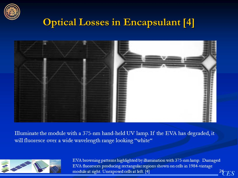 Optical Losses in Encapsulant [4]